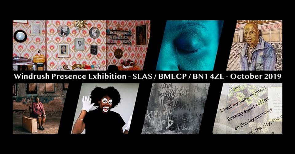 WIndrush exhibition, Seas, BMECP Centre, Black History Month, Brighton