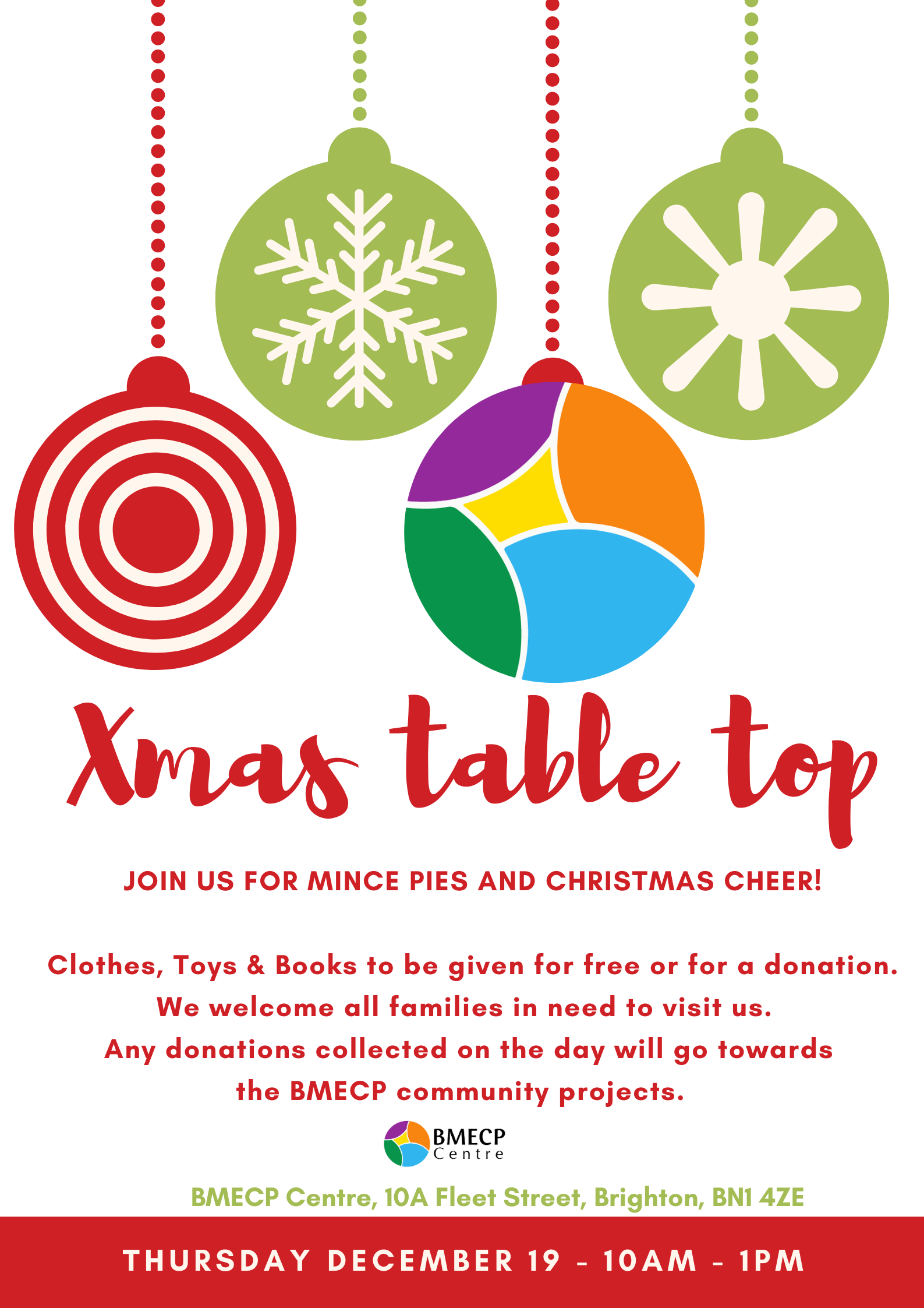 Christmas Table top event, bmecp