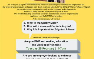 Are you BME and seeking education and work opportunities?